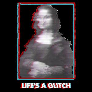 Glitch Vaporwave Mona Lisa
