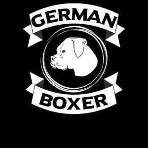German Boxer Dog Kopf Hundeliebhaber Hundehalter