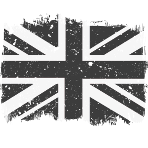 Union Jack Black White Vintage
