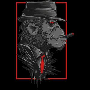 Affe Mit Hut Und Kravatte
