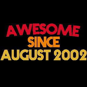 18. Geburtstag August 2002 bday vintage Geschenk