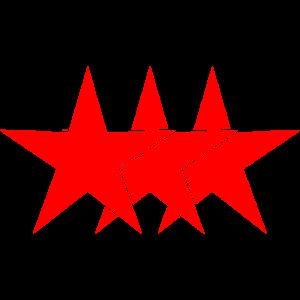 Sterne Rot Personalisierbar