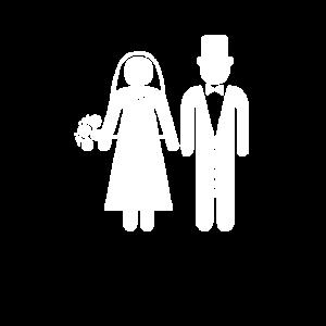 Braut Bräutigam Hochzeit Hochzeitspaar am Altar