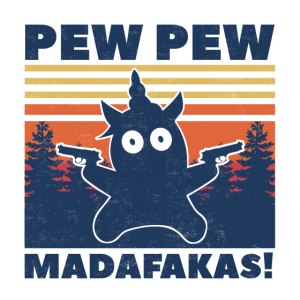 Einhorn Pew Pew Madafakas Unicorn Vintage Funny