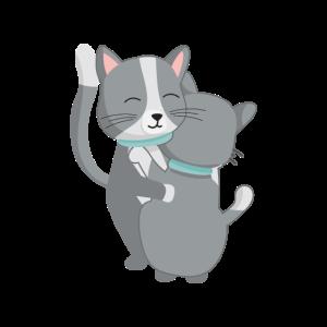 Katzen Umarmung