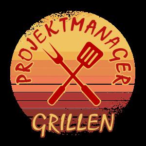 Projekt Grillen Projektmanager lustiges GrillShirt