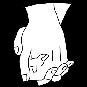 Händchen halten Beziehung Liebe Zusammenhalt