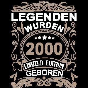 20. Geburtstag Legenden 2000 geboren 20 Jahre