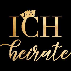 Bride - JGA - Ich heirate - Wedding - Gold