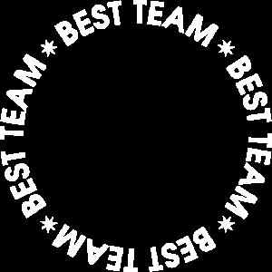 Best Team Kreis mit sternen Weiß