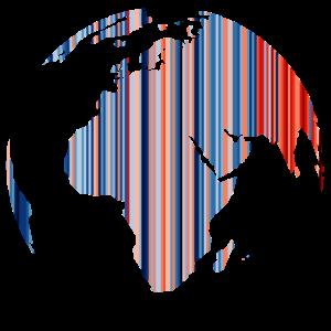 Klimawandel - Warming Stripes - Erde