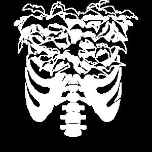 Spaß Goth Pastell Goth Skelett Fledermaus Design-Idee