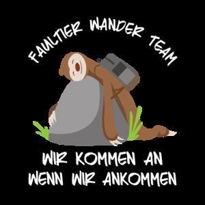 Faultier Wander Team Sloth Geschenk