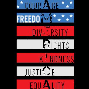 Amerika Freiheit Gerechtigkeit Gleichheit shirt
