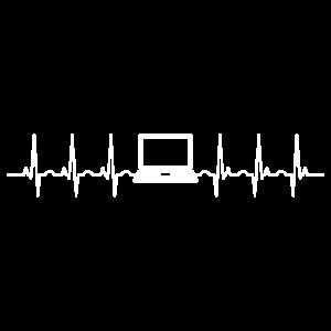 Computer Laptop Herzschlag Programmierer
