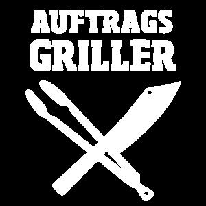 Auftrags Griller - Grillmeister Zange und Messer
