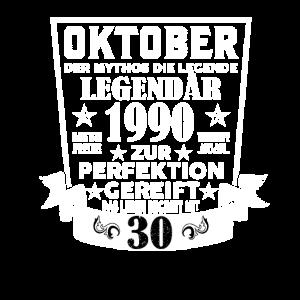 30 Geburtstag Oktober 1990 Geschenk Geschenkidee