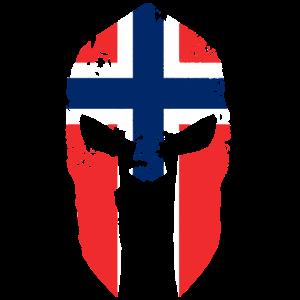 Sparta Norwegen Flagge Helm Helmet Spartan Gym