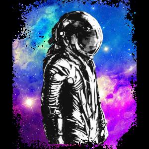 NASA Astronaut Moon Colorful Space Astro Galaxy St