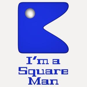 Square man blue