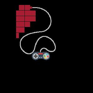 Gamer Partnershirt Herz Gaming Pärchen Partnerlook