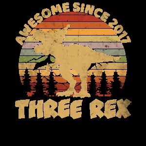 Kinder Geburtstags 3 Jahre Dinosaurier Dino TRex
