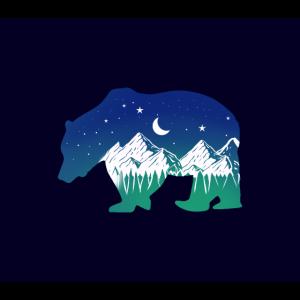 Bären Silhouette für Bergsteiger