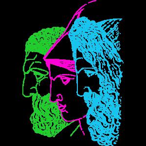Jupiter Minerva und Herkules