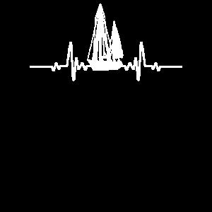 Segelboot Herzschlag