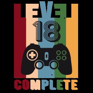 Level 18 Complete 18. Geburtstag 18 Jahre alt 2003