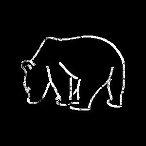 Bär Grizzly Braunbär Silhouette Geschenkidee