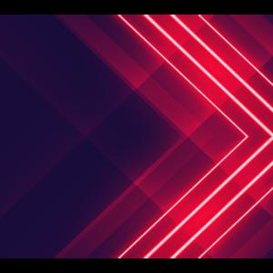 Neon Fluro Pfeilform Design geometrischen Hintergrund