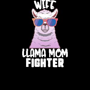Frau Lama Mutter Kämpfer Lama