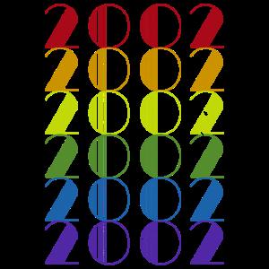 Retro 2002 Jahr Geschenk 18. Geburtstag