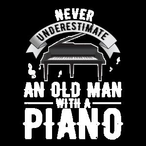 Klavier Pianist Alter Mann