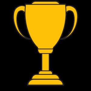 Pokal für Sieger und Gewinner: Platz eintragen