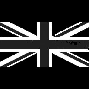 Black Union Jack beunruhigte Vintage Retro-Flagge