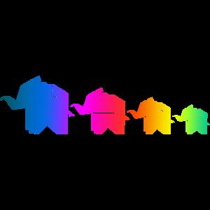 Origami Elefant Familie Familienshirt Partnerlook