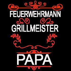 Feuerwehrmann Grillmeister Papa