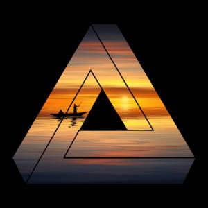Natur Dreieck / Sonnenuntergang / Geschenk
