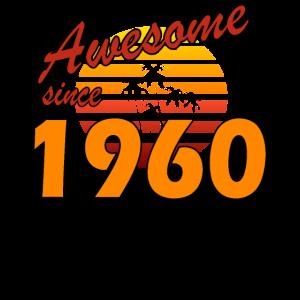 Vintage 1960 Geburtstag 60 Jahre Awesome Geschenk