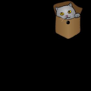 Katze Brusttasche Geschenk Lustig Kinder