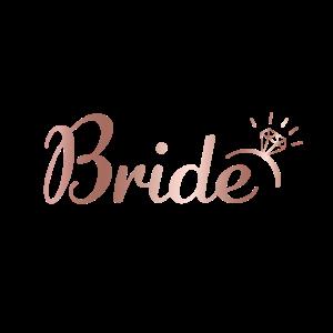 Bride Roségold Handlettering