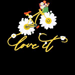 Gänseblümchen Blumen Hippie Fahrrad T-Shirt Shirt