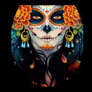 Lady Skull Tag der toten Gesichtsmaske - Dia De Los