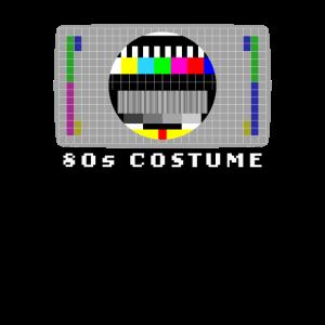 Testbild Fernseher Retro 80er Kostüm