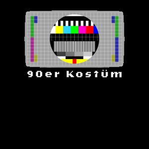 Testbild Fernseher Retro 90er Kostüm