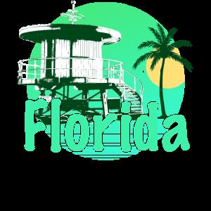 Florida Lifeguard Green Sunrise