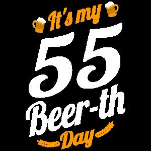 Es ist mein 55 Bier Tag Geburtstag Meilenstein lustig