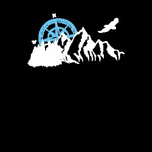 Berge Kompass Natur Geschenk